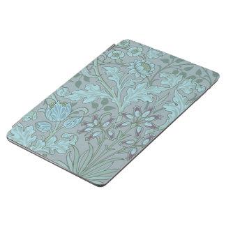 Flores decorativas azules en colores pastel cover de iPad air