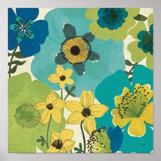 Flores decorativas del jardín póster