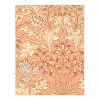 Flores decorativas del rosa en colores pastel postal