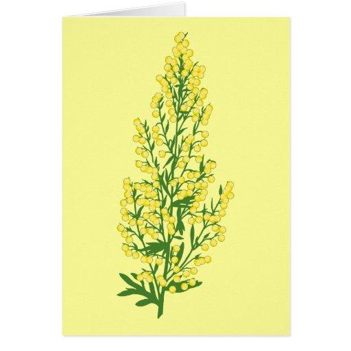 Flores del absintio felicitación