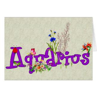 Flores del acuario tarjeta pequeña