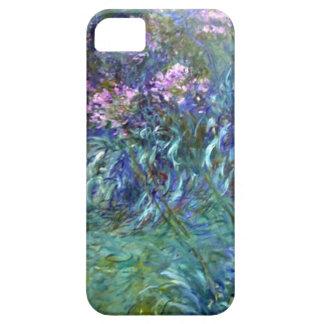 Flores del Agapanthus del impresionismo de Monet iPhone 5 Case-Mate Carcasas