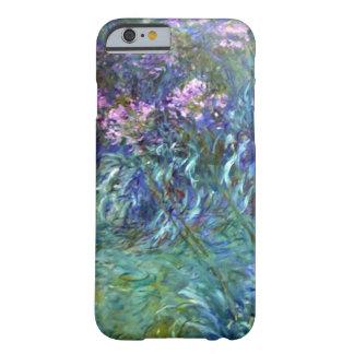Flores del Agapanthus del impresionismo de Monet Funda De iPhone 6 Barely There
