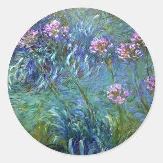 Flores del Agapanthus del pegatina de Claude Monet