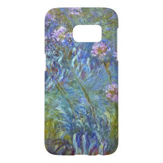 Flores del Agapanthus del vintage de Monet Fundas Samsung Galaxy S7