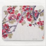 Flores del albaricoque tapete de ratón
