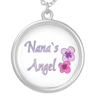 Flores del ángel del ` s de Nana Collar Plateado