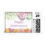 Flores del aniversario Tiempo-Feliz -1 Sello