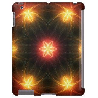 Flores del arco iris del fractal, caso del iPad Funda Para iPad