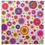 Flores del arco iris del hippy servilletas de papel