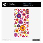Flores del arco iris del hippy calcomanías para iPhone 4