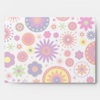 Flores del arco iris del hippy sobres