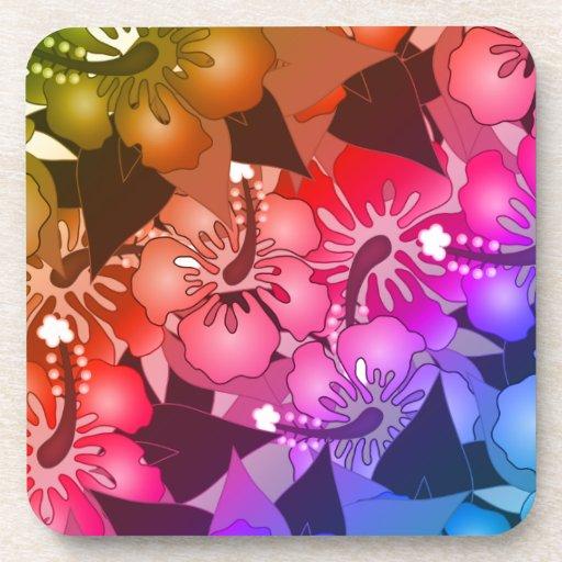 Flores del arco iris posavasos