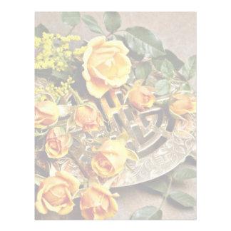 Flores del arreglo floral membrete