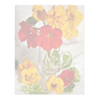 Flores del arreglo floral membrete personalizado
