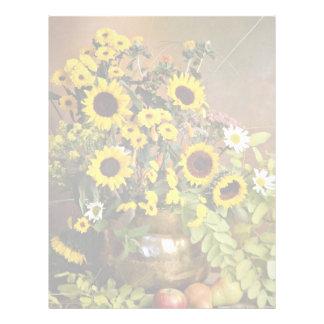 Flores del arreglo floral plantillas de membrete