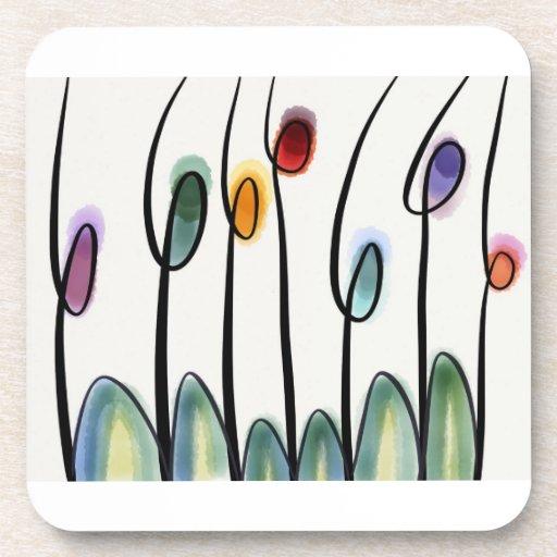 Flores del arte abstracto posavaso