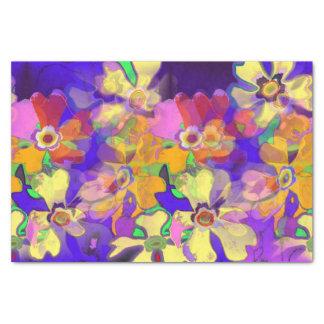 Flores del arte pop papel de seda pequeño