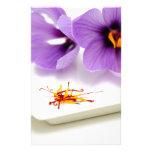 Flores del azafrán papeleria de diseño