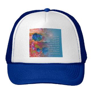Flores del azul de la serenidad gorro
