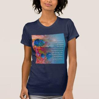 Flores del azul de la serenidad tshirts