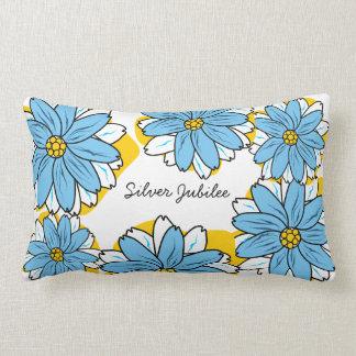 Flores del azul de PIllowRetro del jubileo de plat
