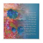 Flores del azul del rezo de la serenidad tejas