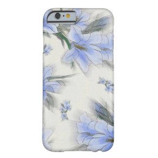 Flores del azul funda de iPhone 6 slim