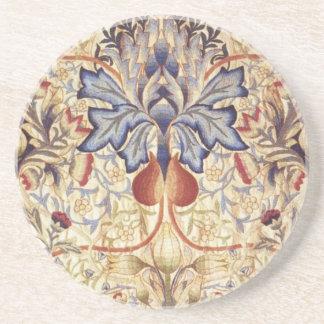 Flores del azul y del oro posavasos manualidades