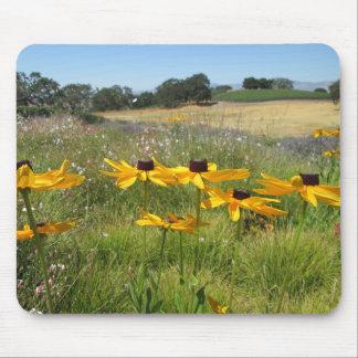 Flores del baile en un mousepad del campo