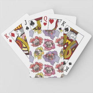 Flores del barro amasado baraja de póquer