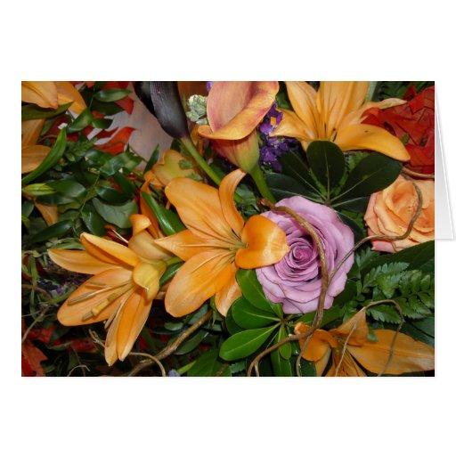 Flores del boda de la caída felicitaciones