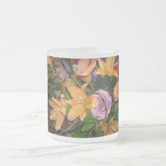 Flores del boda de la caída taza de cristal