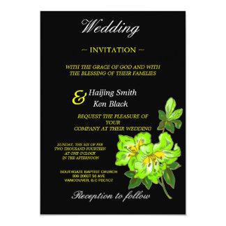 """Flores del boda de la orquídea de la cal de la invitación 5"""" x 7"""""""