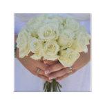 Flores del boda impresión en lienzo estirada