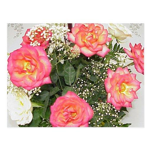 Flores del boda tarjetas postales