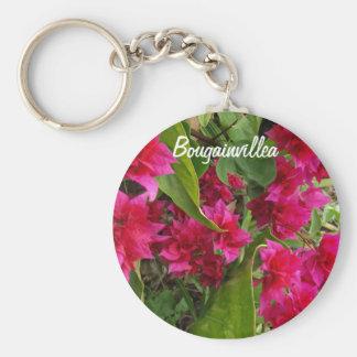 Flores del Bougainvillea Llavero Redondo Tipo Pin