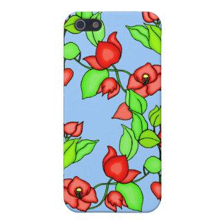 Flores del Bougainvillea y caso del monograma ipho iPhone 5 Cárcasas