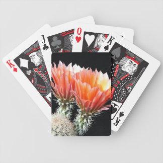 Flores del cactus cartas de juego