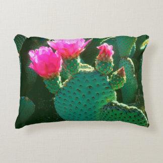 Flores del cactus de Beavertail Cojín