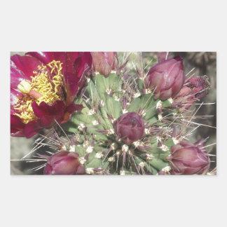Flores del cactus de Borgoña Etiqueta