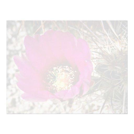 Flores del cactus del calicó o de erizo membretes personalizados