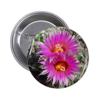 Flores del cactus F0005 Pin Redondo De 2 Pulgadas