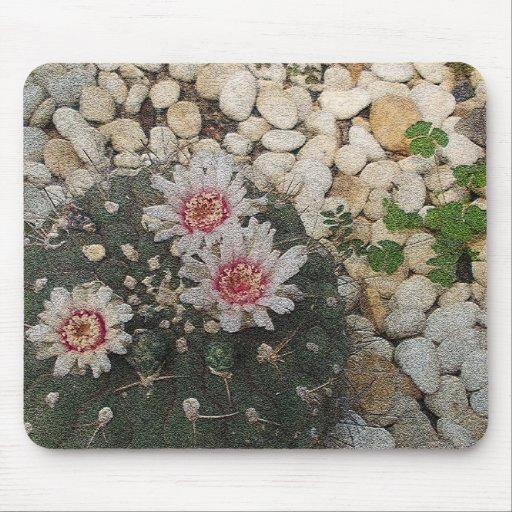 Flores del cactus mousepads