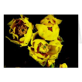 Flores del cactus tarjeta de felicitación