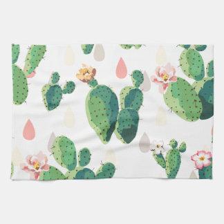 Flores del cactus toalla