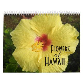 Flores del calendario de Hawaii