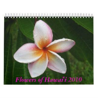 Flores del calendario de Hawaii 2010
