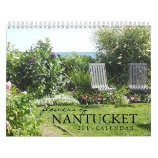 Flores del calendario de la isla 2013 de Nantucket