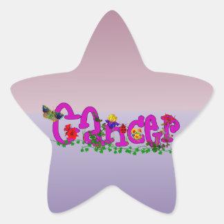 Flores del cáncer pegatina en forma de estrella